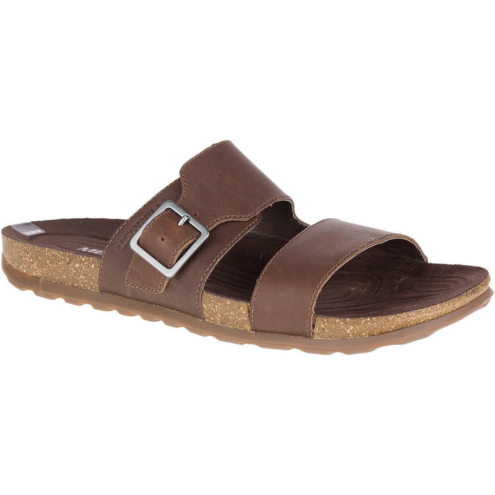 Merrell Mens Downtown Slide Buckle Leather Casual Summer