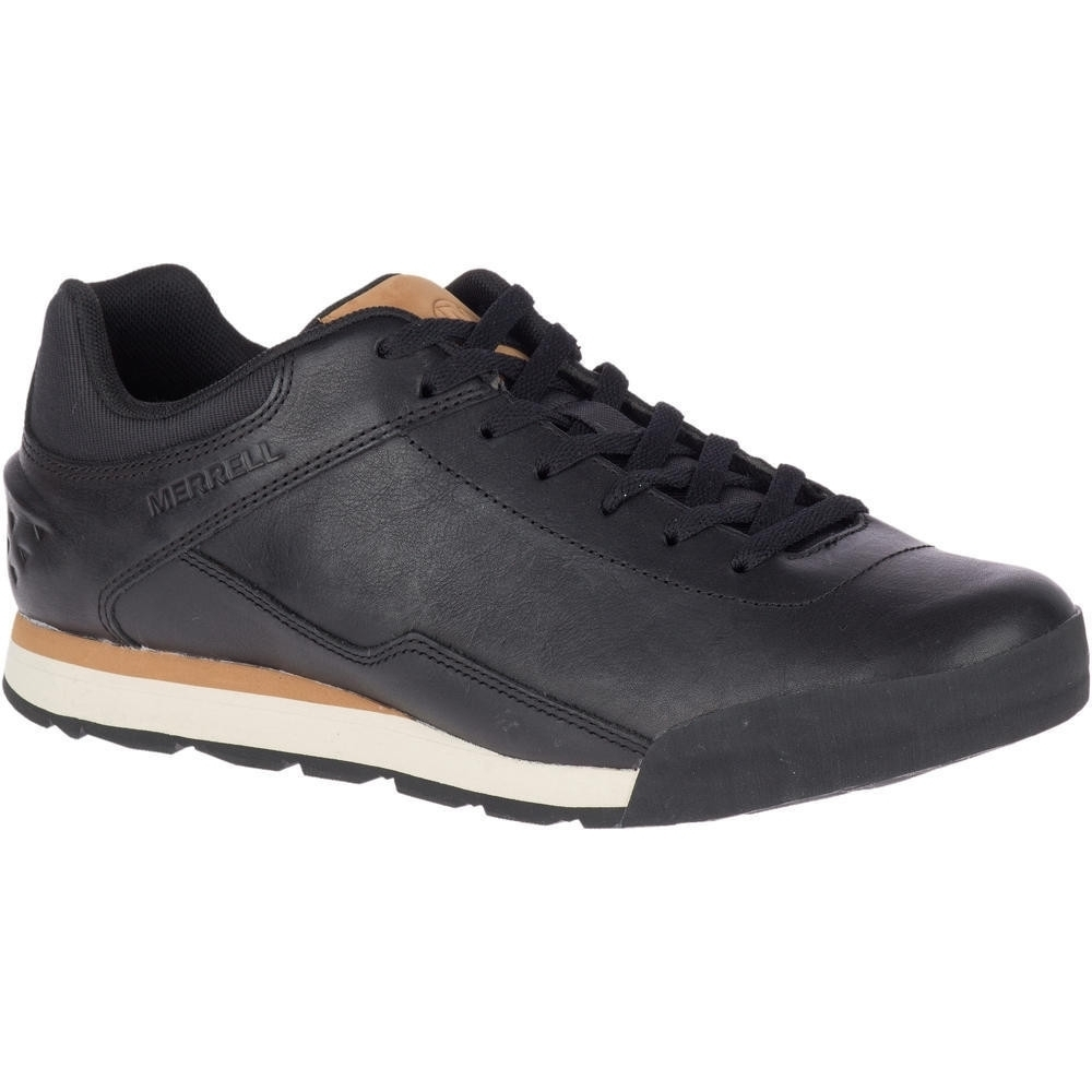 Image of Merrell Mens Burnt Rocked Leather Lace Up Casual Shoes UK Size 11 (EU 46 US 11.5)