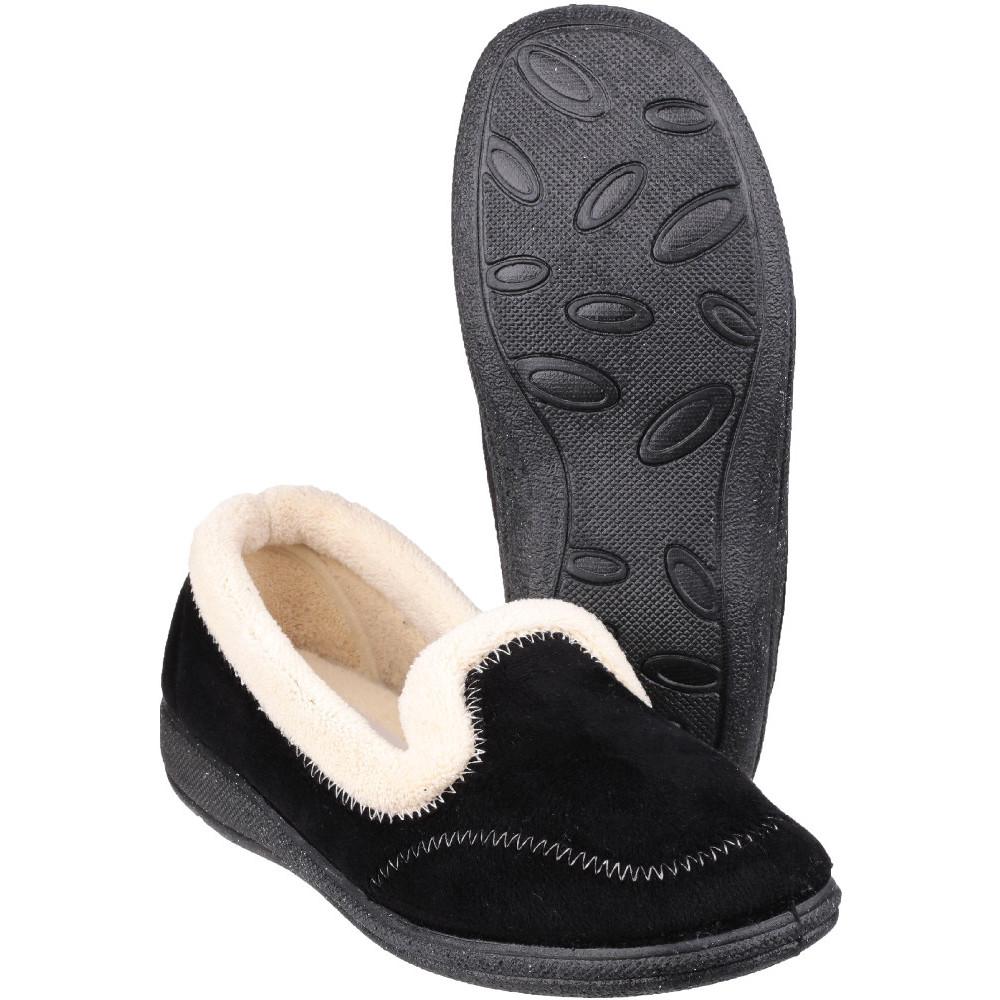 Mirak Womens/ladies Maier Micro Fleece Memory Foam Textile Slippers Uk Size 6 (eu 39  Us 8)