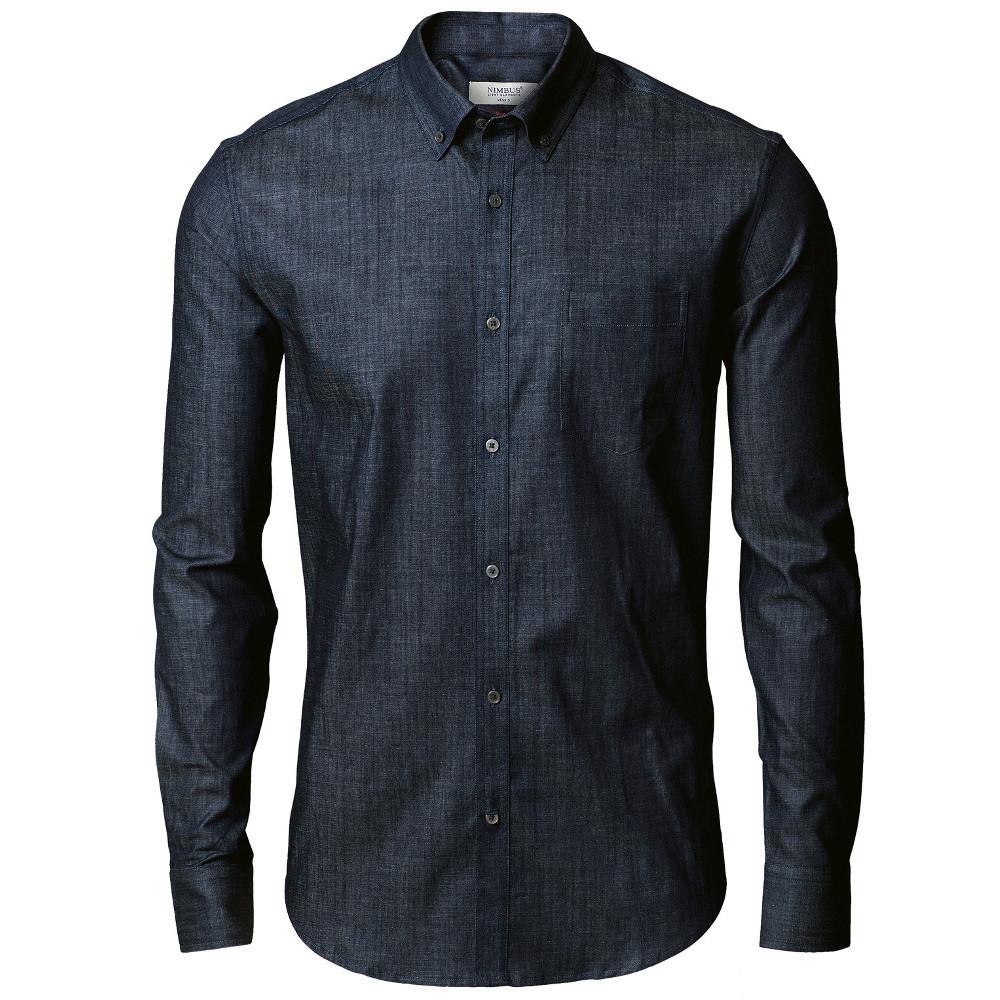 Nimbus Mens Torrance Cotton Slim Fit Long Sleeved Denim Shirt 4xl - Chest 67.5cm
