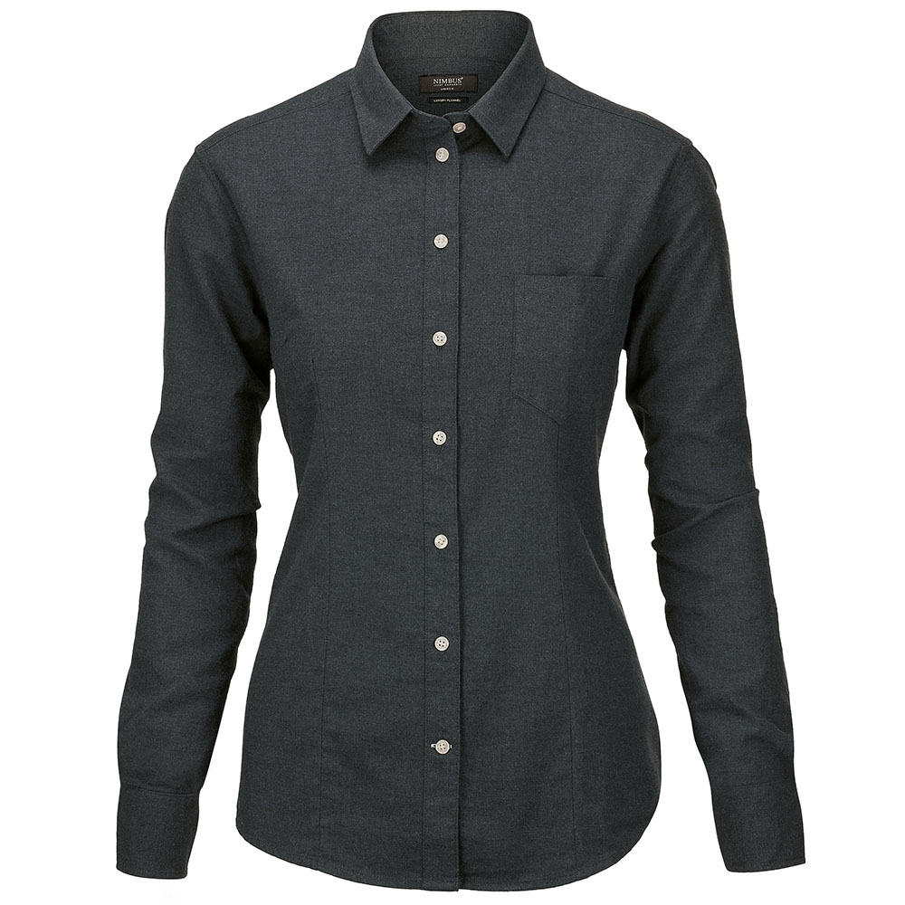 Nimbus Womens Calverton Luxury Long Sleeve Flannel Shirt Xs - Uk Size 8