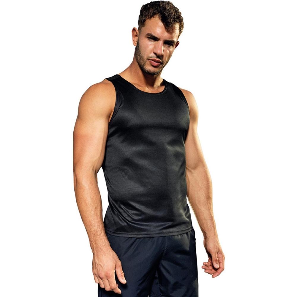 Outdoor Look Mens Contrast Lightweight Wicking Vest Top M - Chest Size38