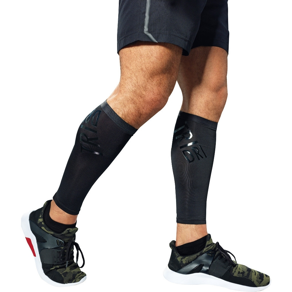 Outdoor Look Mens Running Compression Calf Sleeves Large -34/36