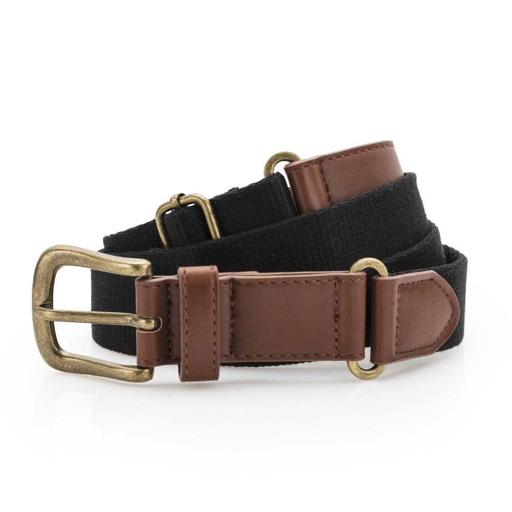 Outdoor Look Womens Faux Leather Canvas Belt One Size