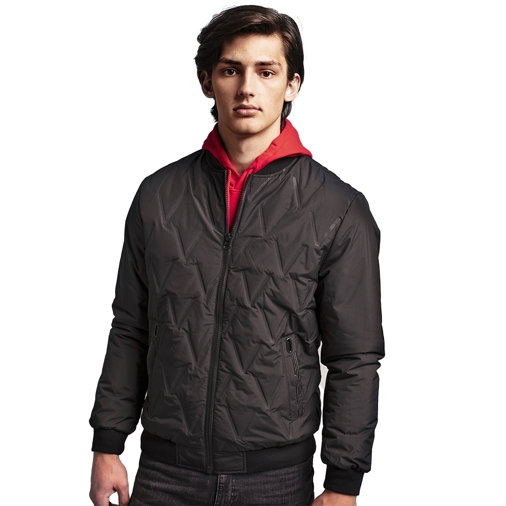 Outdoor Look Mens Vector Moulded Padded Bomber Jacket 2xl- Chest 48