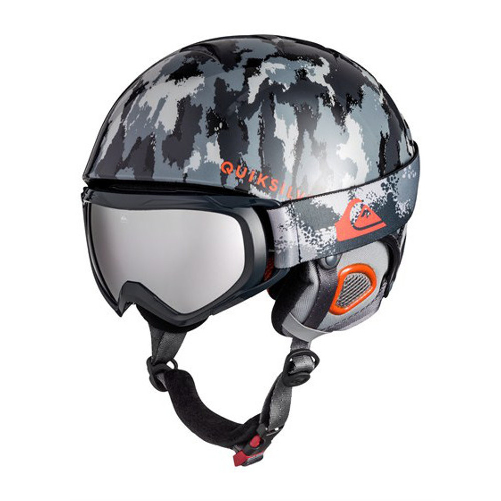 Quiksilver Boys The Game Ski Helmet and Eagle Spherical Ski Goggle Pack 56