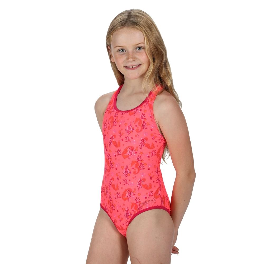 Regatta Girls Tanvi Polyamide Cross Back Swimsuit 5-6 Years - Waist 55-57cm (height 110-116cm)