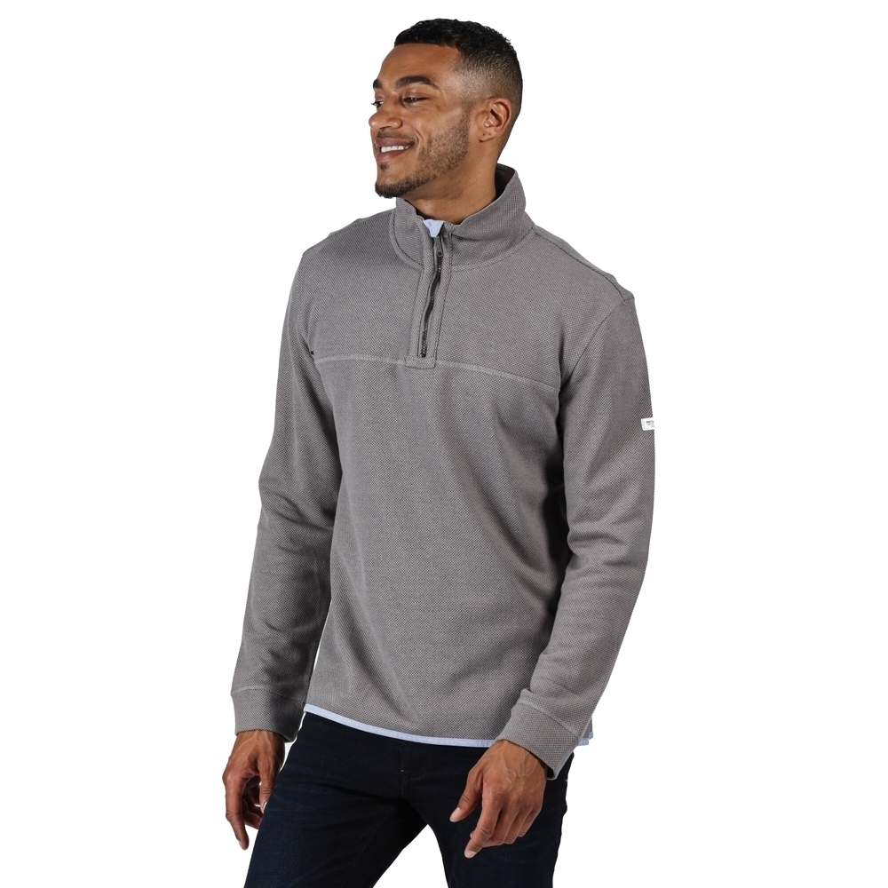 Regatta Mens Lauro Cotton Casual Half Zip Jumper Sweater Xl - Chest 43-44 (109-112cm)