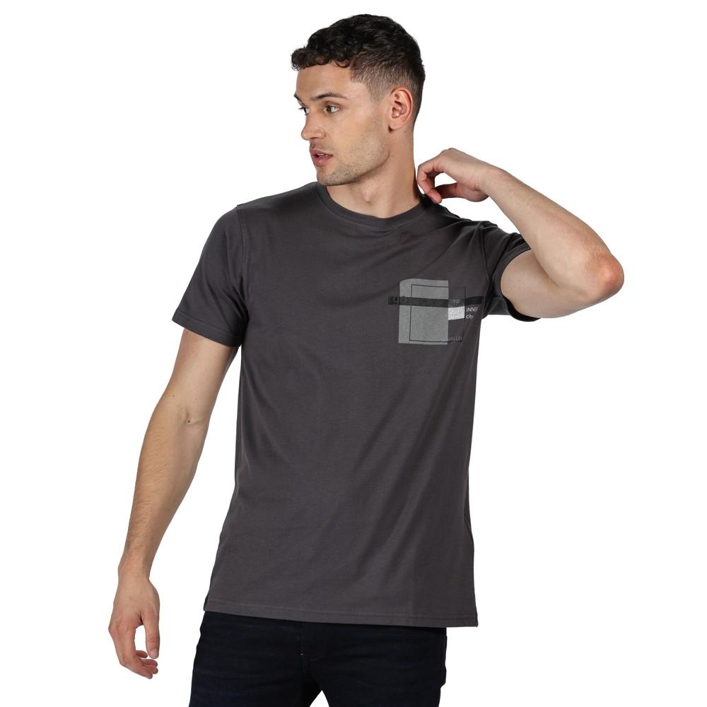 Trespass Mens Cashel Graphic Print Cotton Short Sleeve T Shirt L - Chest 41-43 (104-109cm)