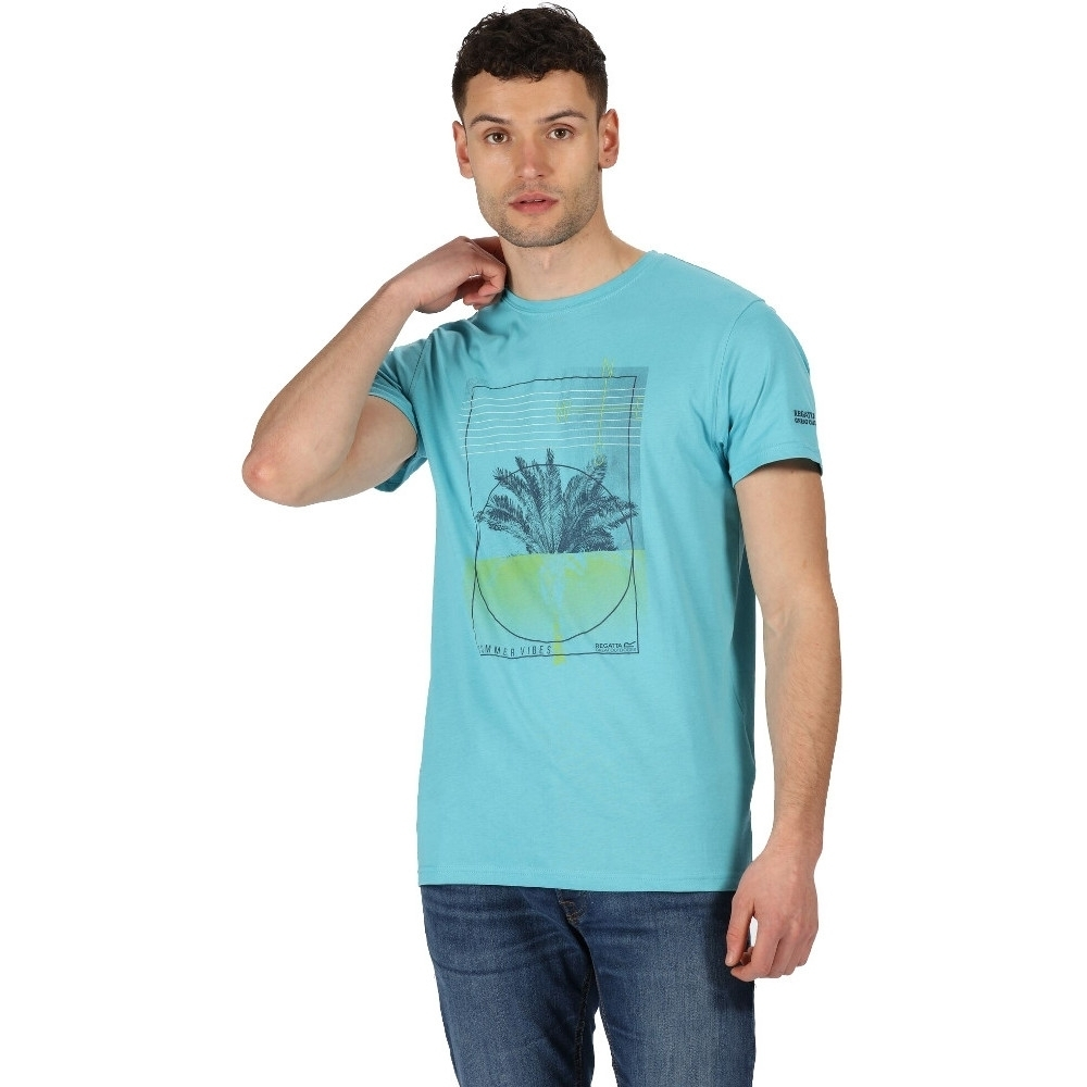 Image of Regatta Mens Cline IV Cotton Casual Grahpic T Shirt Tee S - Chest 37-38' (94-96.5cm)