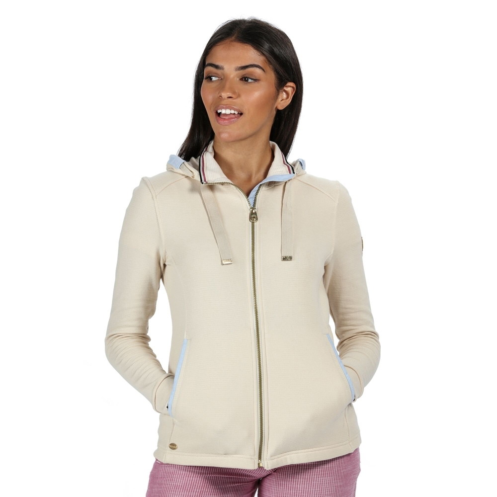 Regatta Womens Ramana Ribbed Hooded Casual Hoodie Sweater 8 - Bust 32 (81cm)