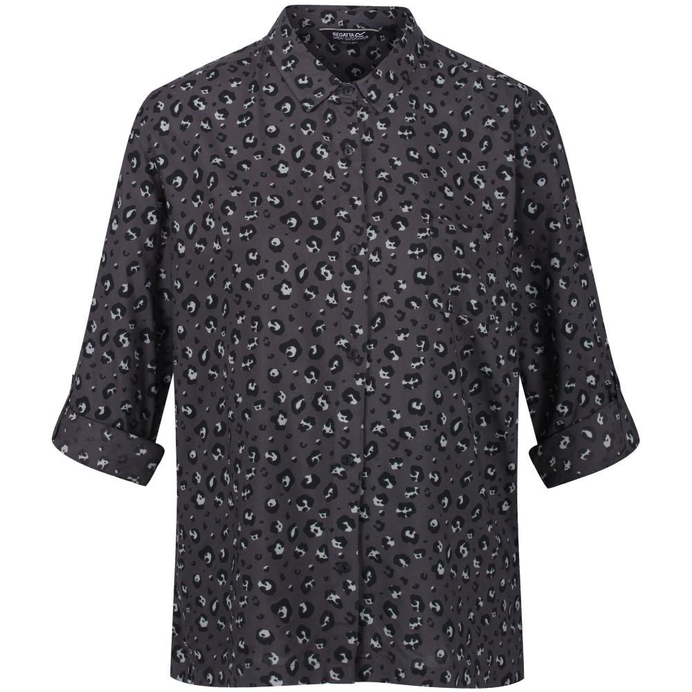 Regatta Womens Meera Coolweave Cotton Long Sleeve Shirt 8 - Bust 32 (81cm)