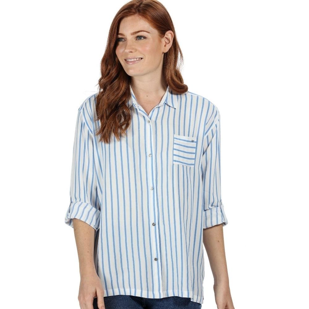 Regatta Womens Meera Coolweave Cotton Long Sleeve Shirt 10 - Bust 34 (86cm)