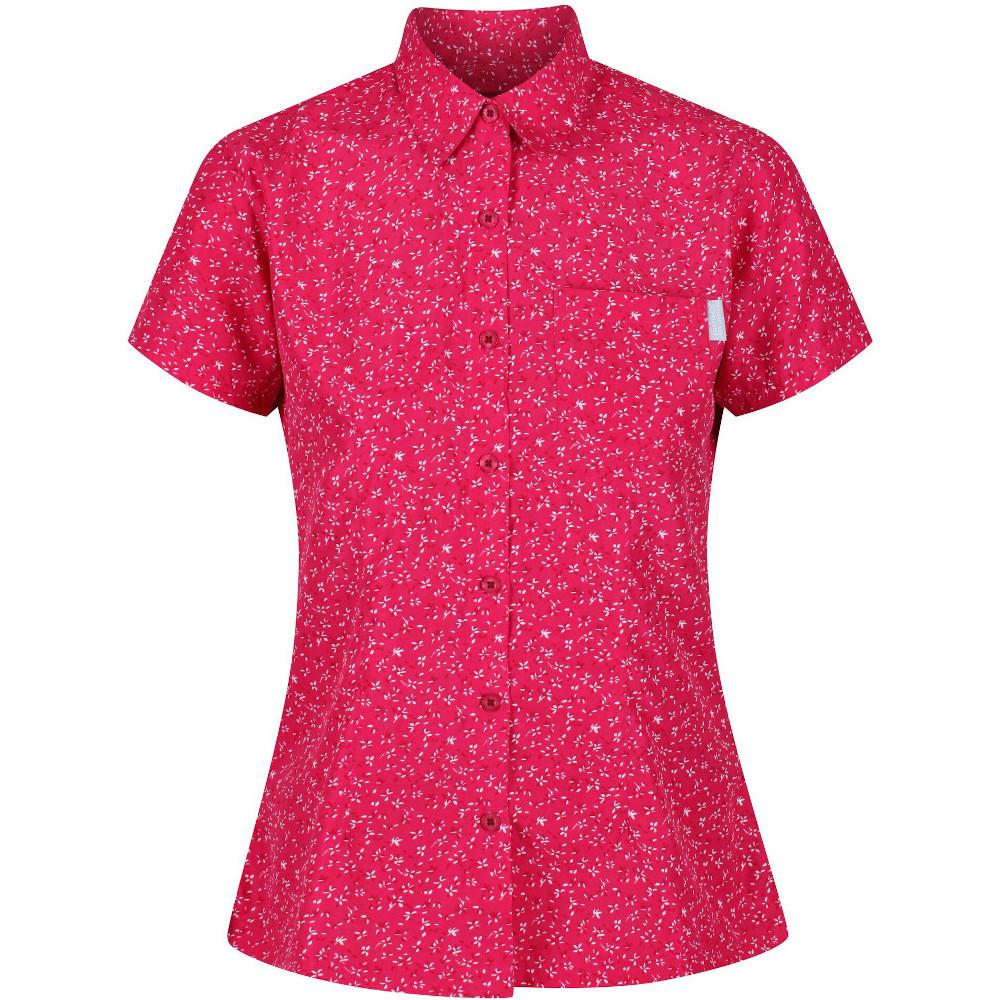 Regatta Womens Mindano V Quick Dry Wicking Long Sleeve Shirt 8 - Bust 32 (81cm)