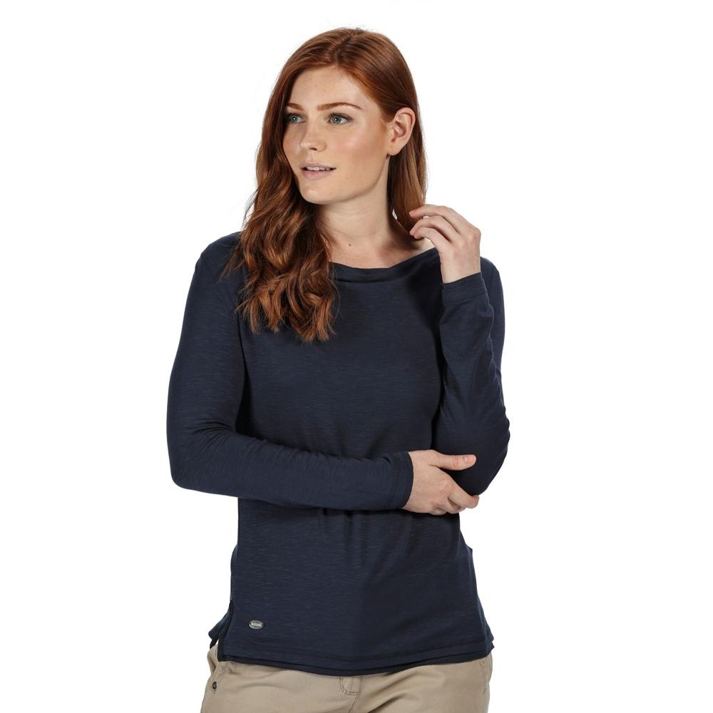Regatta Womens Frayler Cowl Neck Long Sleeve Slub Jersey Top 20 - Bust 45 (114cm)