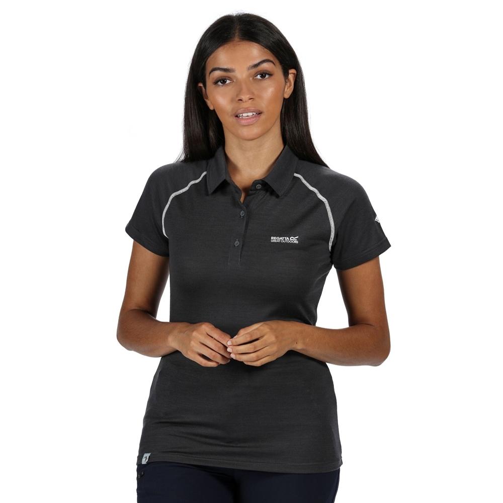 Regatta Womens Kalter Moisture Wicking Active Polo Shirt 10 - Bust 34 (86cm)