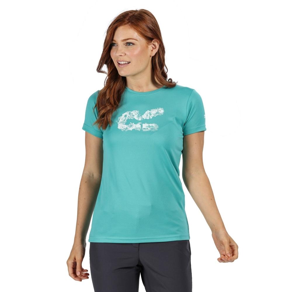 Regatta Womens Fingal V Quick Drying Wicking Graphic T Shirt 10 - Bust 34 (86cm)
