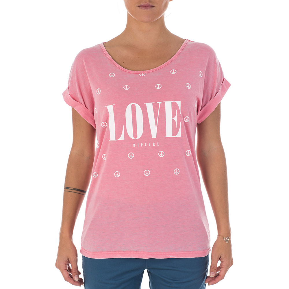 Rip curl ladies love graphic printed t shirt bear grylls for Graphic t shirt printing company