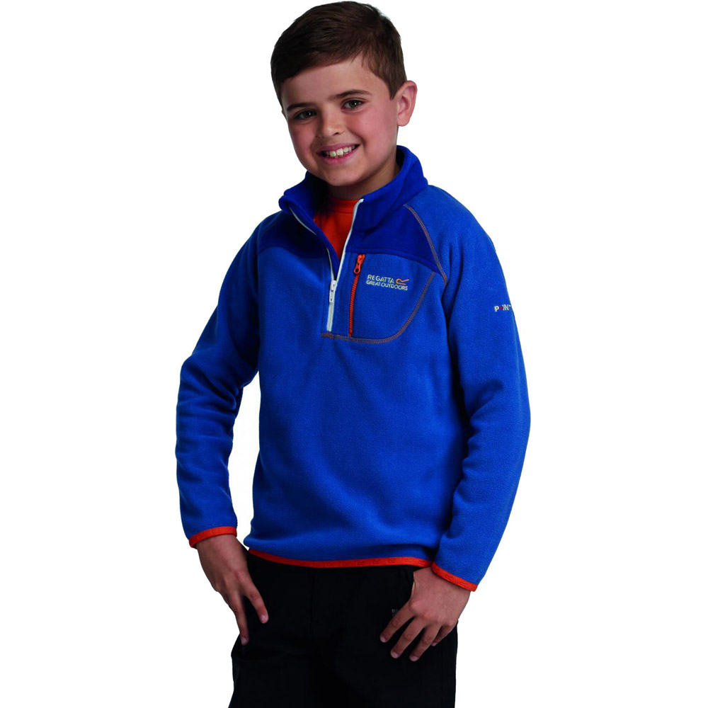 Product image of Regatta Boys Breaktrail Half Zip Overhead Fleece Top Blue RKA140