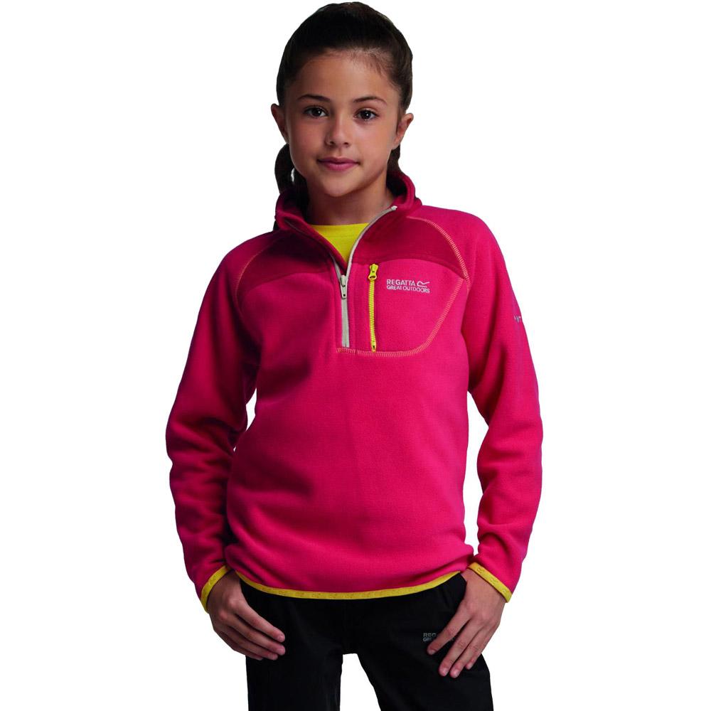 Product image of Regatta Girls Breaktrail Half Zip Overhead Fleece Top Pink RKA140