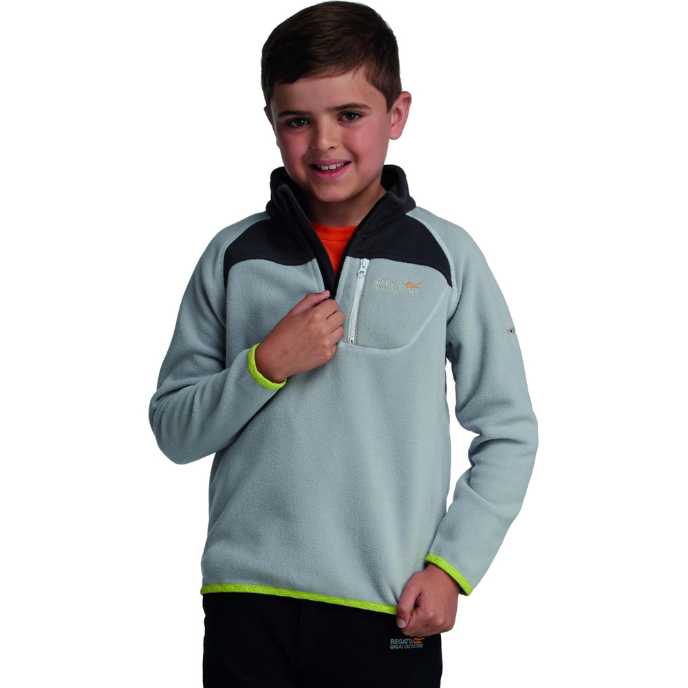 Product image of Regatta Boys Breaktrail Half Zip Overhead Fleece Top Grey RKA140