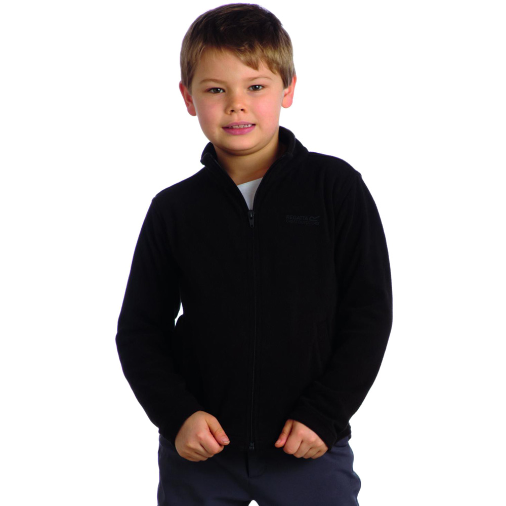 Product image of Regatta Boys King II Warm Full Zip Fleece Top RKA147 Black