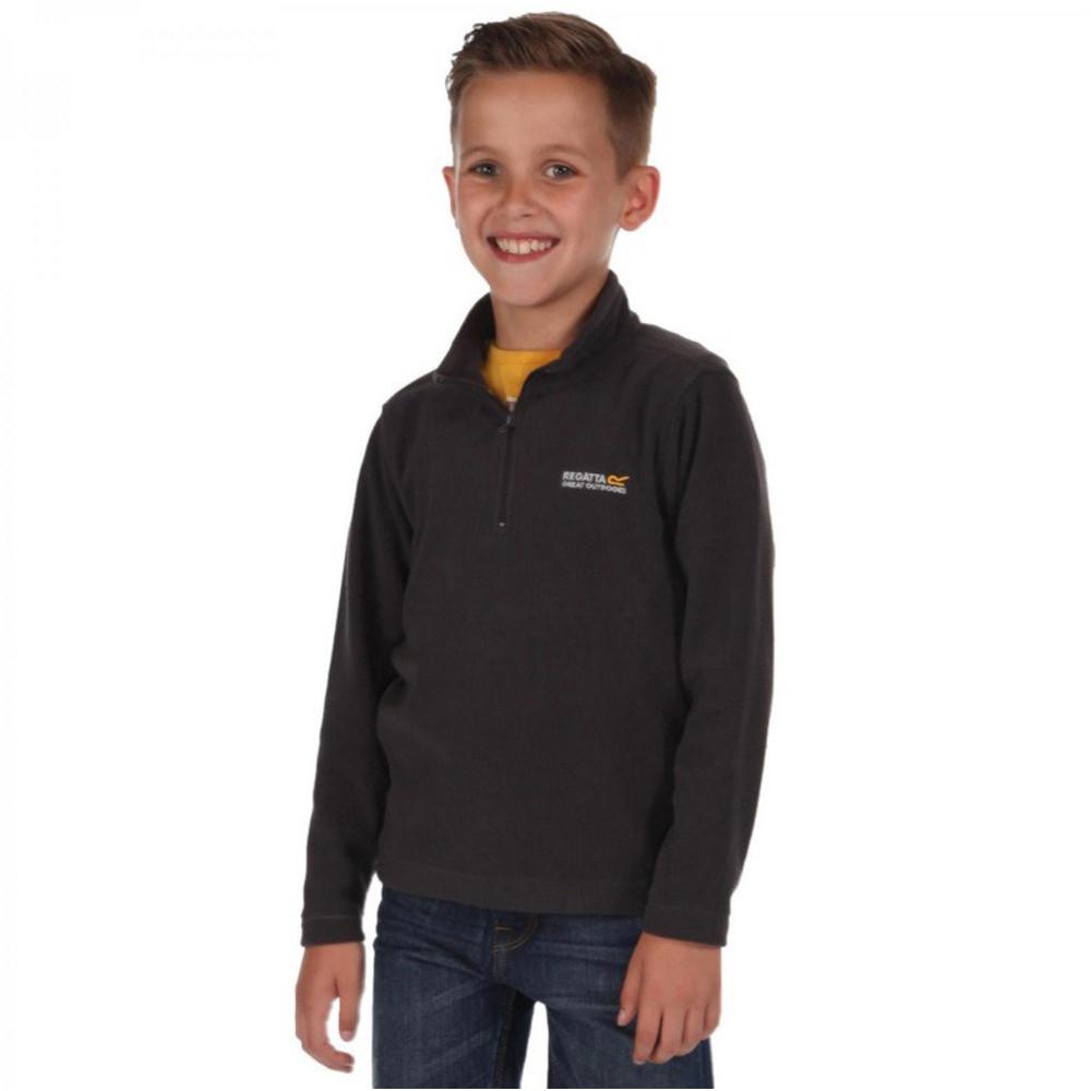 Product image of Regatta Boys & Girls Hot Shot Lightweight Half Zip Fleece Top 7-8 Years - Chest 63-67cm (Height 122-