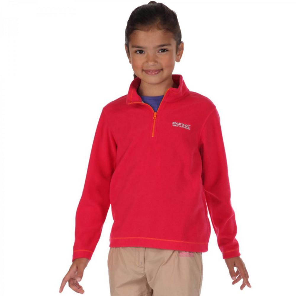 Product image of Regatta Boys & Girls Hot Shot Lightweight Half Zip Fleece Top 32' - Chest 79-83cm (Height 152-158cm)