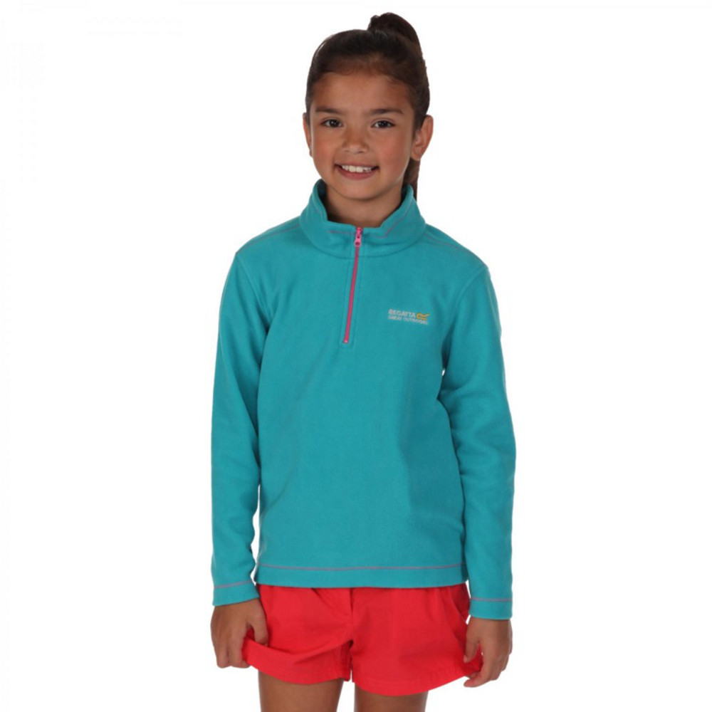 Product image of Regatta Boys & Girls Hot Shot Lightweight Half Zip Fleece Top 11-12 Years - Chest 75-79cm (Height 14