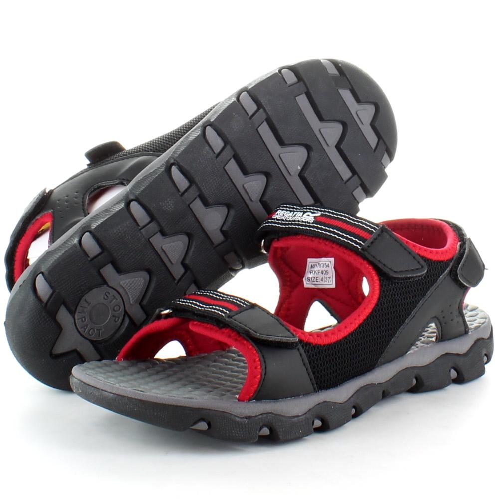 Product image of Regatta Boys Terrarock Junior Walking Sandals RKF409 Black