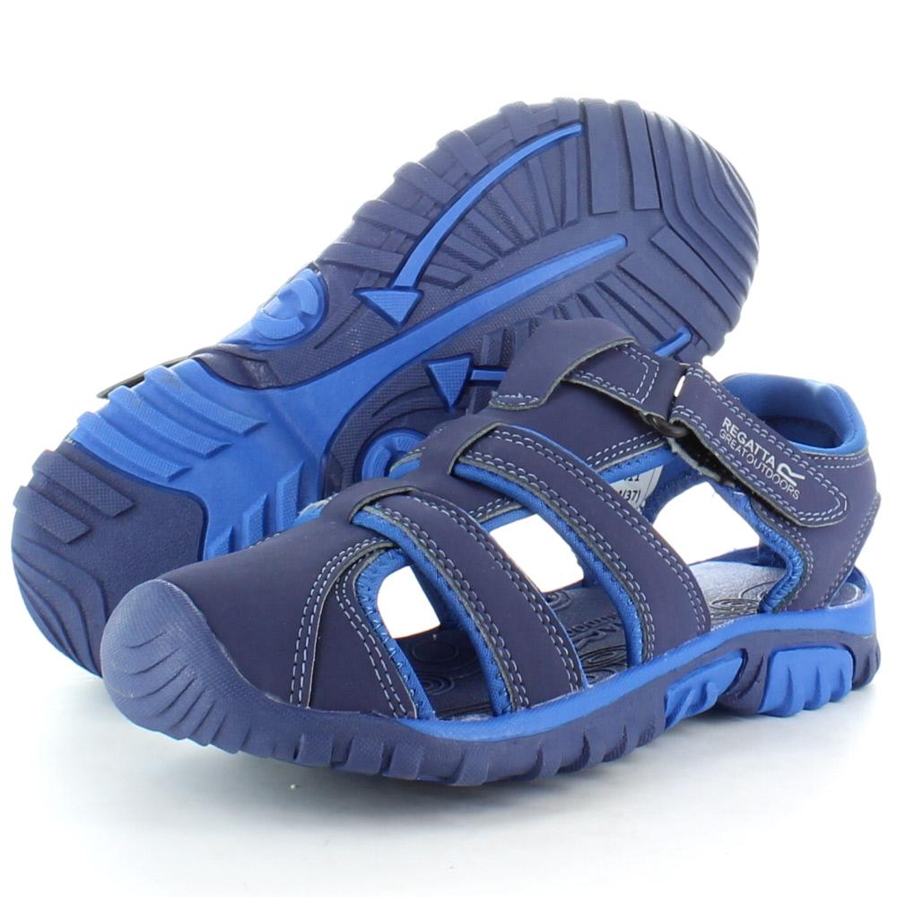 Product image of Regatta Boys Boardwalk Junior Walking Sandals RKF411 Navy