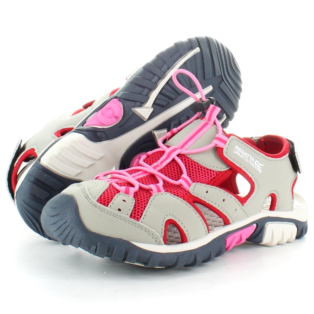 Product image of Regatta Girls Deckside Junior Walking Sandals RKF413 Grey