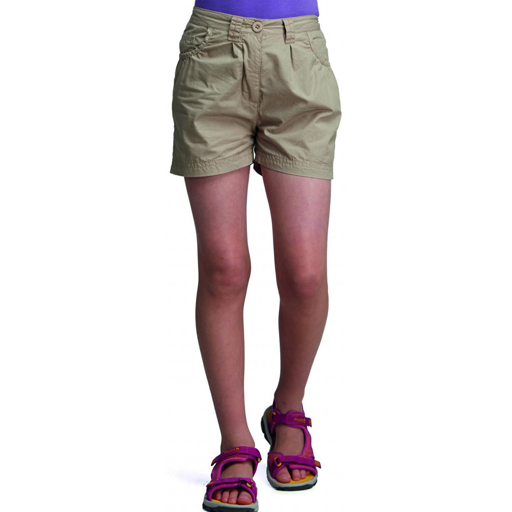 Product image of Regatta Girls Dolie Breathable Summer Shorts Yellow RKJ049