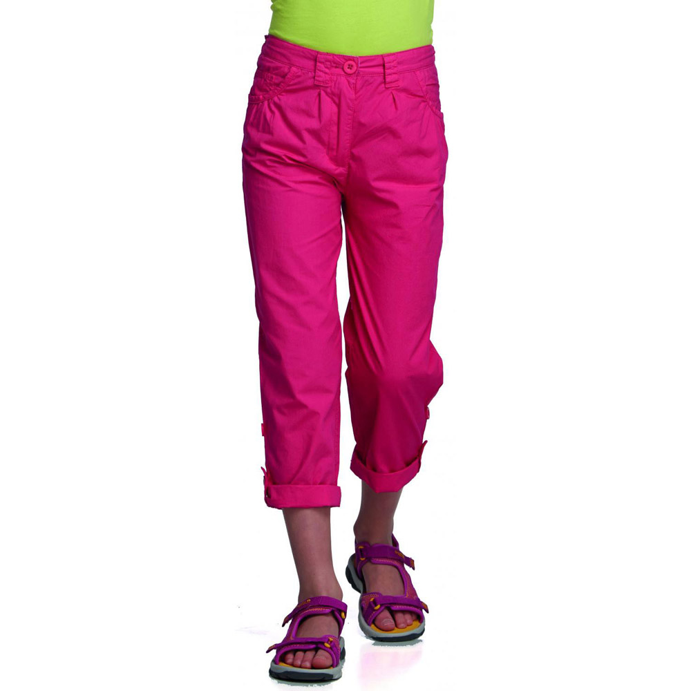Product image of Regatta Girls Dolie Breathable Summer Capri Trousers Pink RKJ050