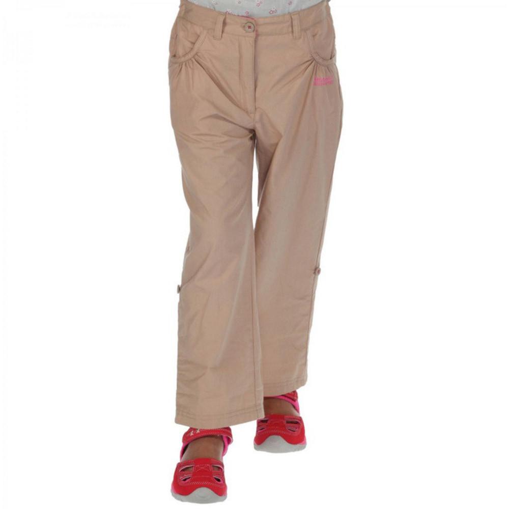 Regatta Girls Doddle Coolweave Cotton Walking Trousers 9-10