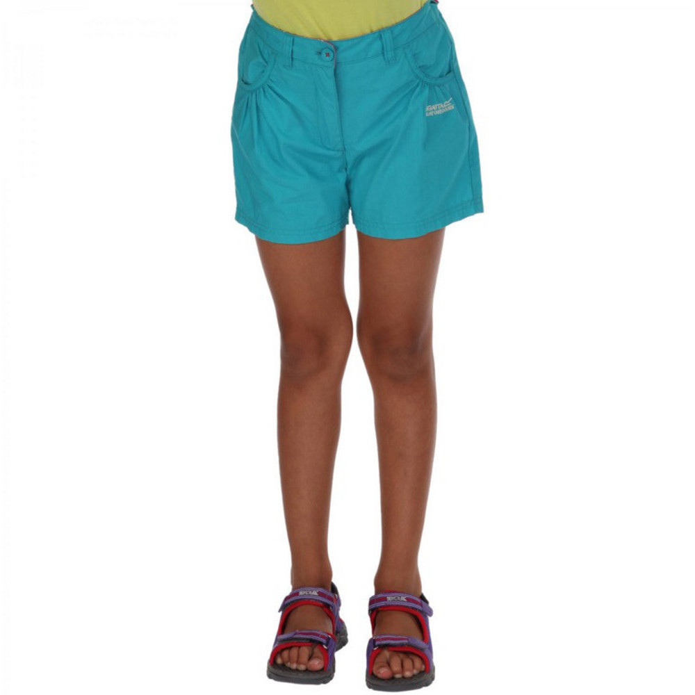 Product image of Regatta Girls Doddle Coolweave Cotton Walking Shorts 11-12 Years - Waist 65-67cm (Height 146-152cm)