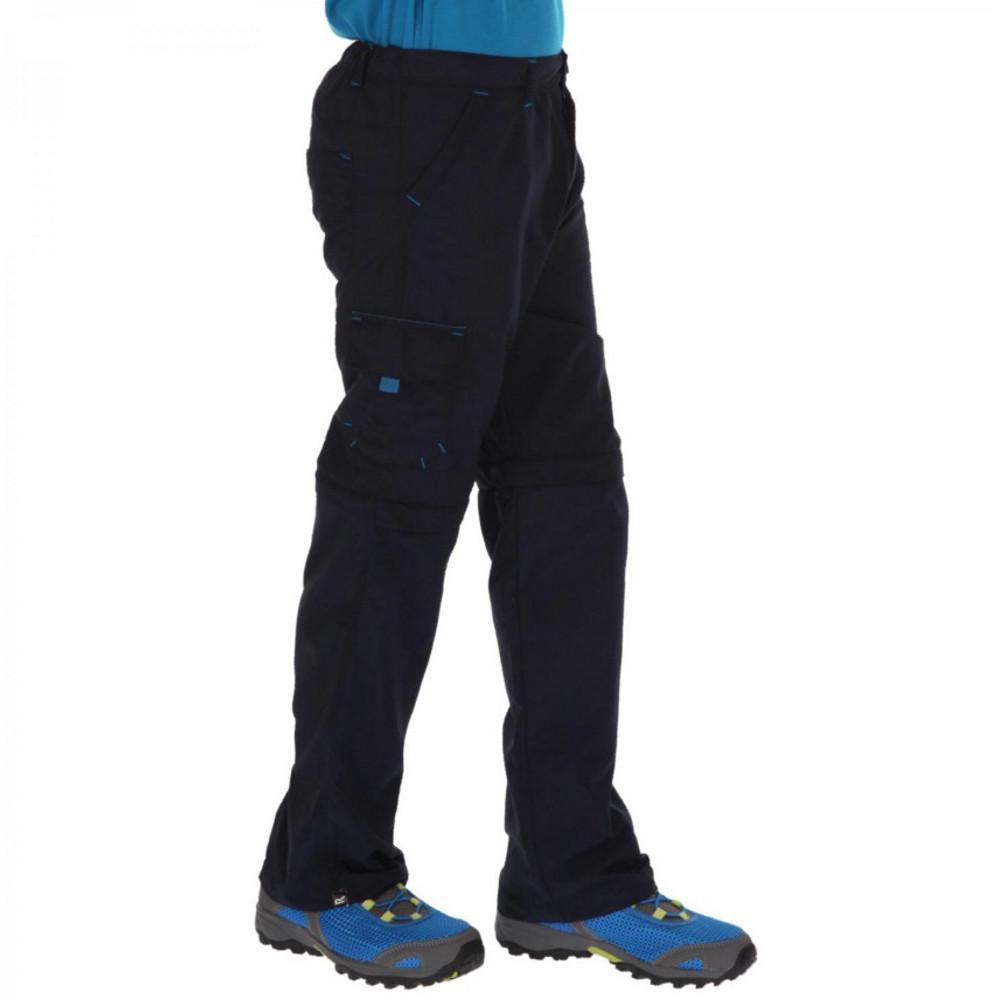 Product image of Regatta Boys & Girls Sorcer Lightweight Zip Off Trousers 11-12 Years - Waist 65-67cm (Height 146-152