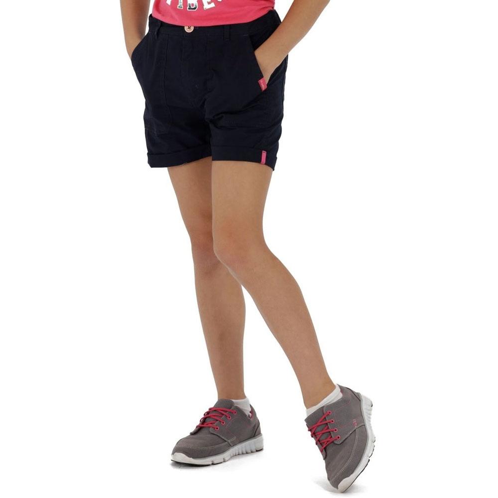 Regatta BoysandGirls Damzel Coolweave Part-elasticated Cotton Shorts 9-10 Years - Waist 61-64cm (height 135-140cm)