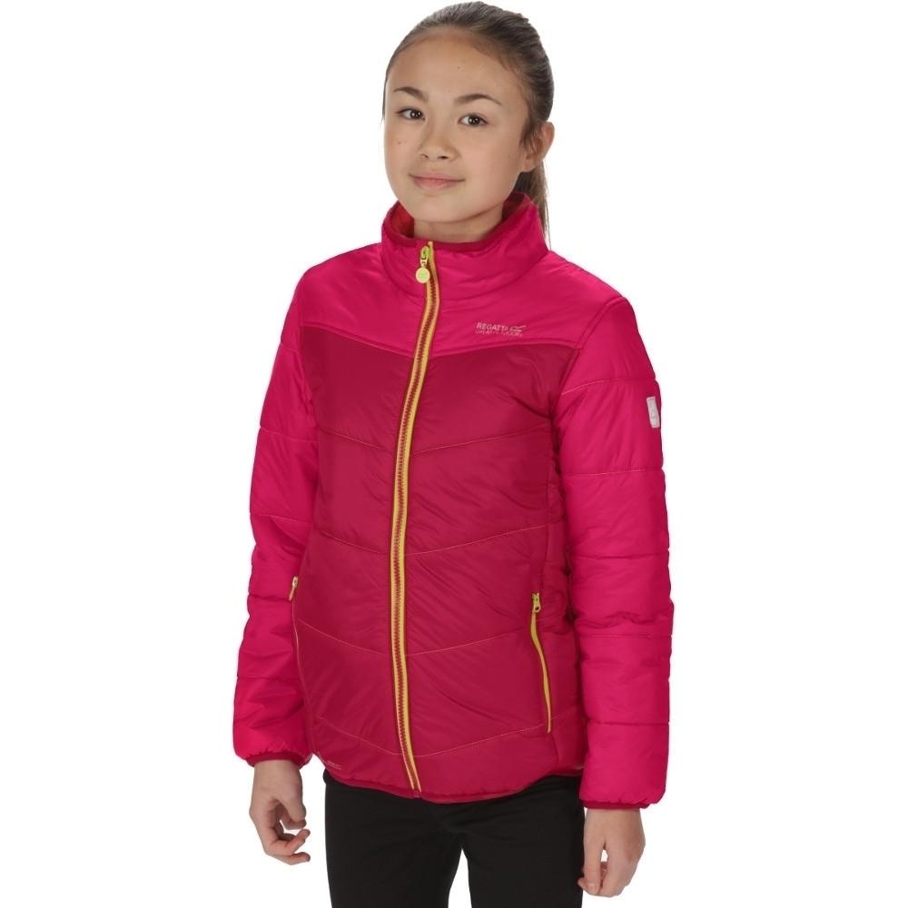 Image of Regatta Boys & Girls Icebound III Lightweight Water Repellant Jacket 5-6 Years - Chest 59-61cm (Height 110-116cm)
