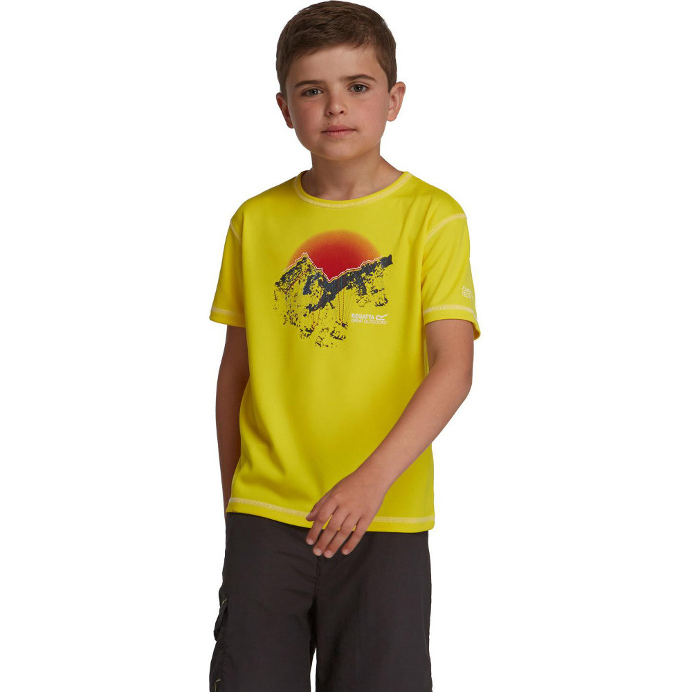 Product image of Regatta Boys & Girls Abis Lightweight Quick Drying Active T Shirt 32' - Chest 79-83cm