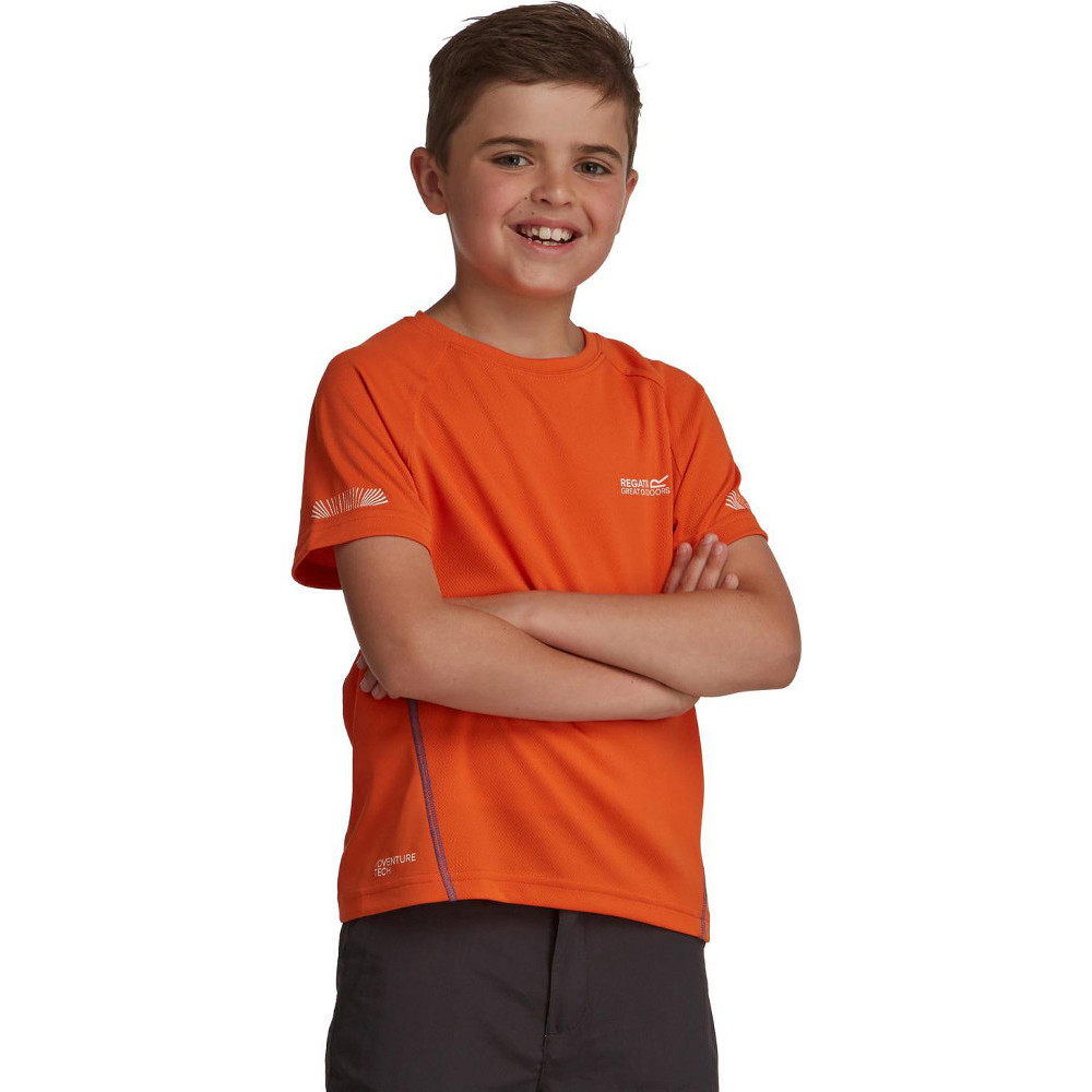 Product image of Regatta Boys & Girls Gantu Technical Quick Drying Sporty T Shirt 11 years - Chest 75-79cm