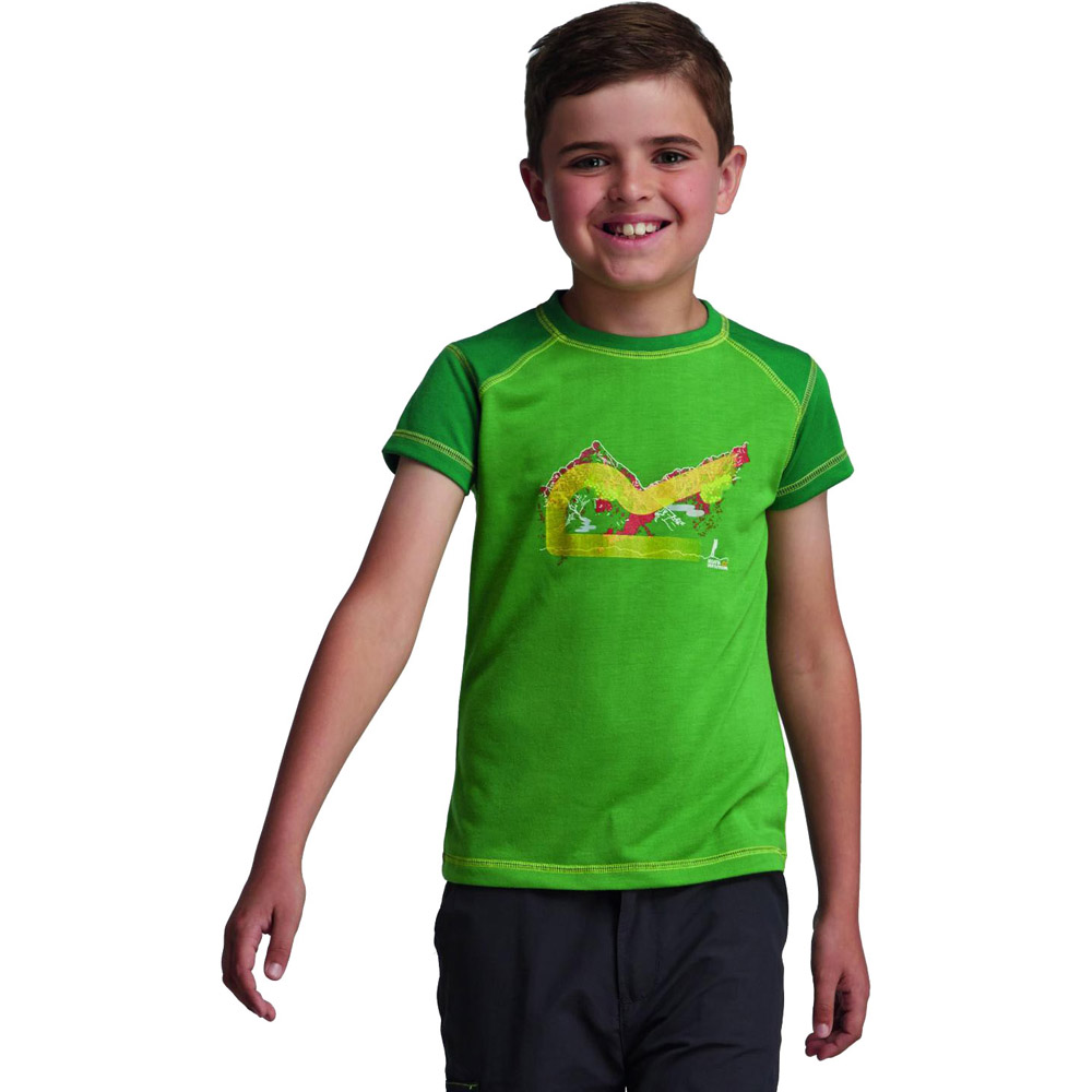 Product image of Regatta Boys Thorpe Lightweight Graphic Print T Shirt Green RKT055
