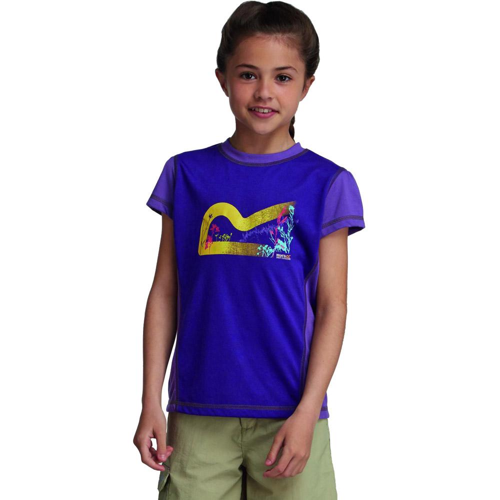 Product image of Regatta Girls Thora Lightweight Graphic Print T Shirt Purple RKT056