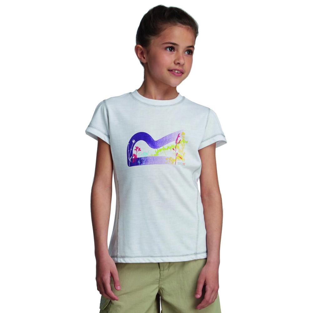 Product image of Regatta Girls Thora Lightweight Graphic Print T Shirt White RKT056