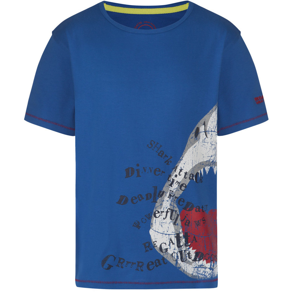 Product image of Regatta Boys & Girls Bobbles Coolweave Cotton Graphic T Shirt 34' - Chest 83-85cm (Height 158-164cm)