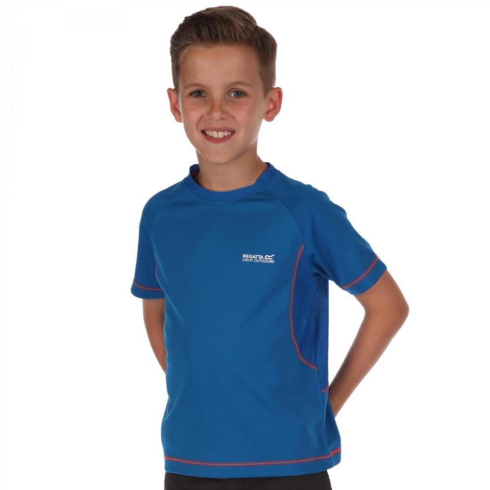 Product image of Regatta Boys & Girls Diverge Coolweave Cotton T Shirt 34' - Chest 83-85cm (Height 158-164cm)
