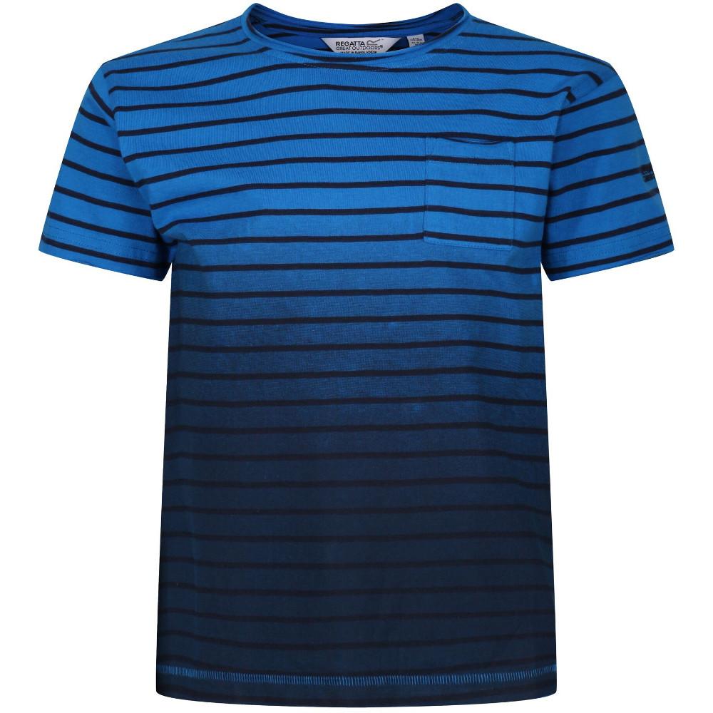 Regatta Boys Manthos Gradient Print Casual T Shirt 11-12 Years - Chest 75-79cm