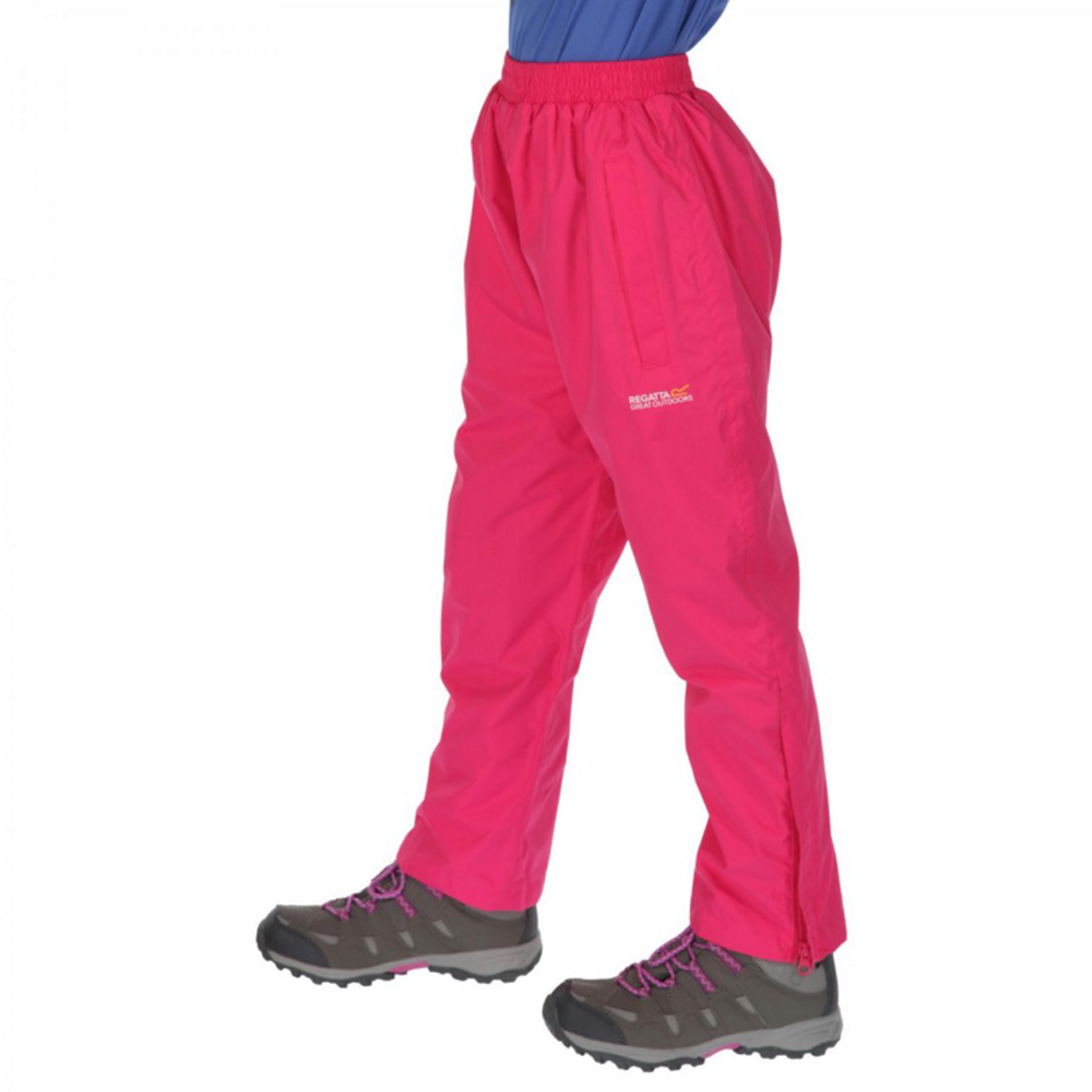 Product image of Regatta Girls & Girls Kids Chandler Waterproof Polyester Overtrousers 11-12 Years - Waist 65-67cm (H