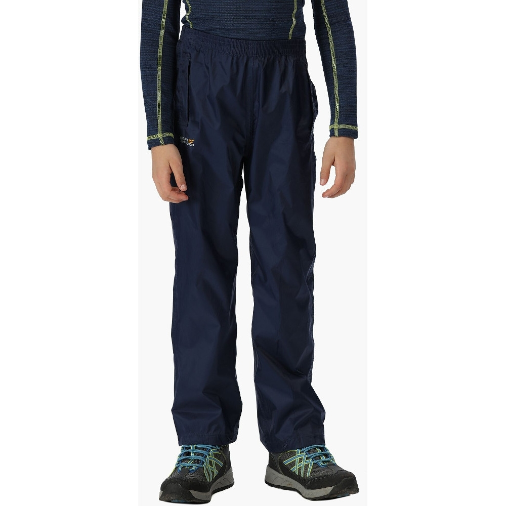 Regatta BoysandGirls Kids Pack It Lightweight Waterproof Overtrousers 2 Years - Waist 52 - 53 Cm (height 92 Cm)