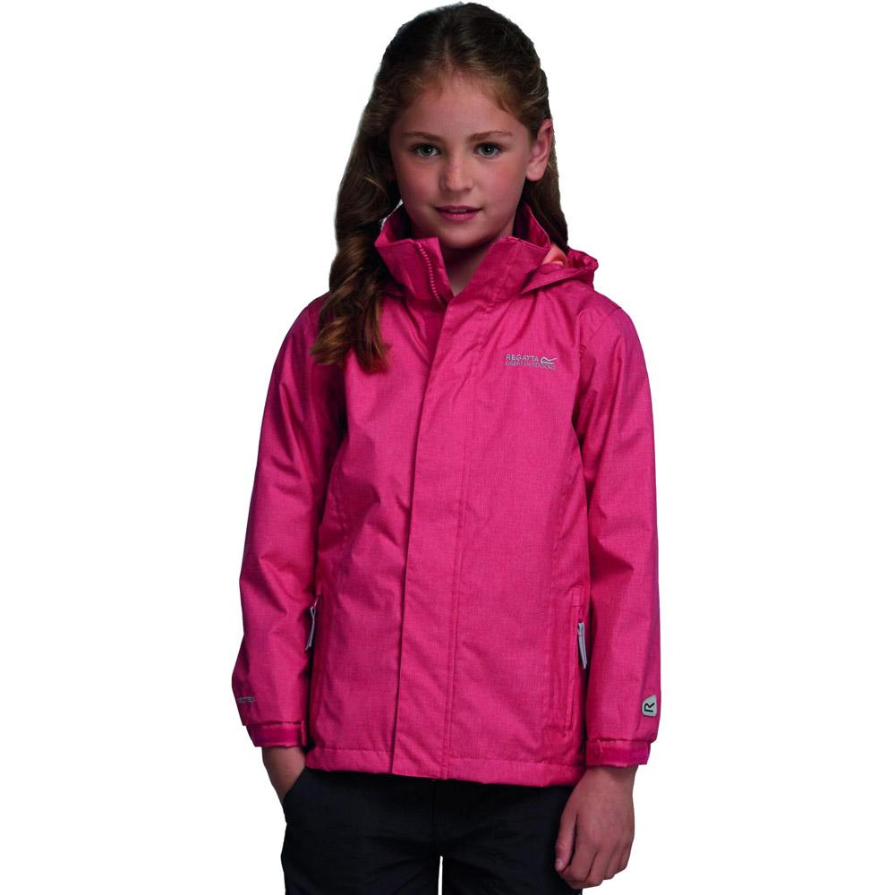 Product image of Regatta Girls Ferdie Waterproof Breathable Shell Jacket Pink RKW139